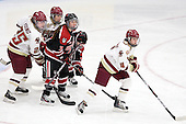 Jackie Young (BC - 25), Meagan Mangene (BC - 24), Brittany Esposito (Northeastern - 7), Kendall Coyne (Northeastern - 77), Melissa Bizzari (BC - 4) - The Northeastern University Huskies defeated the Boston College Eagles in a shootout on Monday, January 31, 2012, in the opening round of the 2012 Women's Beanpot at Walter Brown Arena in Boston, Massachusetts. The game is considered a 1-1 tie for NCAA purposes.