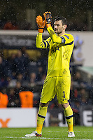 Goalkeeper Hugo Lloris of Tottenham Hotspur during the UEFA Europa League group match between Tottenham Hotspur and Monaco at White Hart Lane, London, England on 10 December 2015. Photo by Andy Rowland.