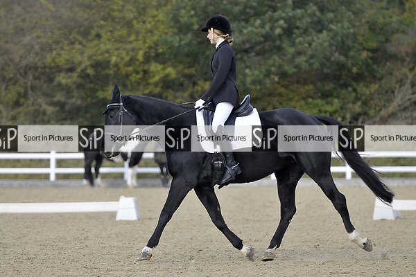 Class 3. Prelim 7. Unaffiliated Dressage. Brook Farm training centre. Essex. UK. 28/10/2017. MANDATORY Credit Garry Bowden/Sportinpictures - NO UNAUTHORISED USE - 07837 394578