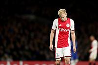 5th November 2019; Stamford Bridge, London, England; UEFA Champions League Football, Chelsea Football Club versus Ajax; A dejected Donny van de Beek of Ajax - Editorial Use