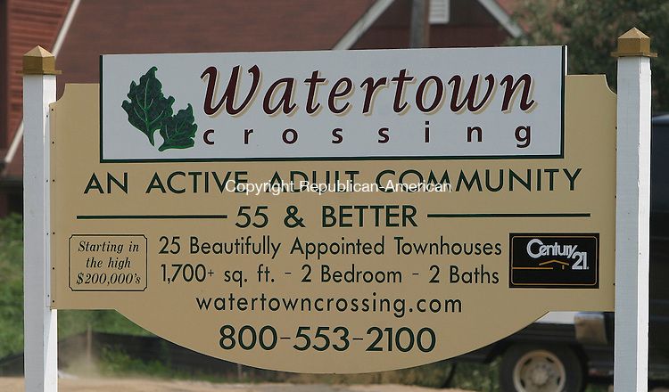 WATERTOWN, CT -27 July 2005- 072705BZ02- The sign announcing Watertown Crossing, an active adult community.<br /> Jamison C. Bazinet photo