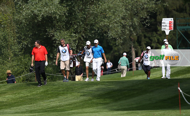 Players leaving the 13th tee during Round Two of the 2015 BMW International Open at Golfclub Munchen Eichenried, Eichenried, Munich, Germany. 26/06/2015. Picture David Lloyd | www.golffile.ie