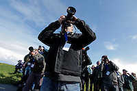 Plan spotters along the runway at Ørland Air Base in Norway. Nato Tiger Meet is an annual gathering of squadrons using the tiger as their mascot. While originally mostly a social event it is now a full military exercise. Tiger Meet 2012 was held at the Norwegian air base Ørlandet.