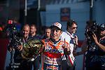 VALENCIA, SPAIN - NOVEMBER 11: Marc Marquez during Valencia MotoGP 2016 at Ricardo Tormo Circuit on November 11, 2016 in Valencia, Spain