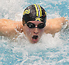 Andrew Stange of St. Anthony's swims the butterfly portion of the 200-yard medley relay during the CHSAA City Championships at Nassau Aquatic Center on Sunday, Feb. 12, 2017.  St. Anthony's won the event with a time of 1:35.40.