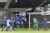 Pictured: Liam Cullen of Swansea (C). Tuesday 01 May 2018<br /> Re: Swansea U19 v Cardiff U19 FAW Youth Cup Final at the Liberty Stadium, Swansea, Wales, UK