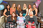 Charlotte O'Shea, Caherslee, Tralee (seated centre) who is about to have a new baby had a fab baby shower party in La Scala, Tralee last Friday night, also seated is Shannon O'Shea (left) and Charlotte's mom Diane (right). Back l-r: Cassie Leen, Joanne Lynch, Denise Buckley, Joelene O'Keeffe, Kate O'Regan and Rachel Lynch.