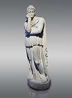 Roman statue of Arris, 3rd century AD from Hierapolis. Hierapolis Archaeology Museum, Turkey. Against a grey background