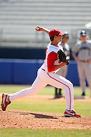 March 23, 2010:  Pitcher Theron Minium of the Ohio State University Buckeyes during a game at the Chain of Lakes Stadium in Winter Haven, FL.  Photo By Mike Janes/Four Seam Images