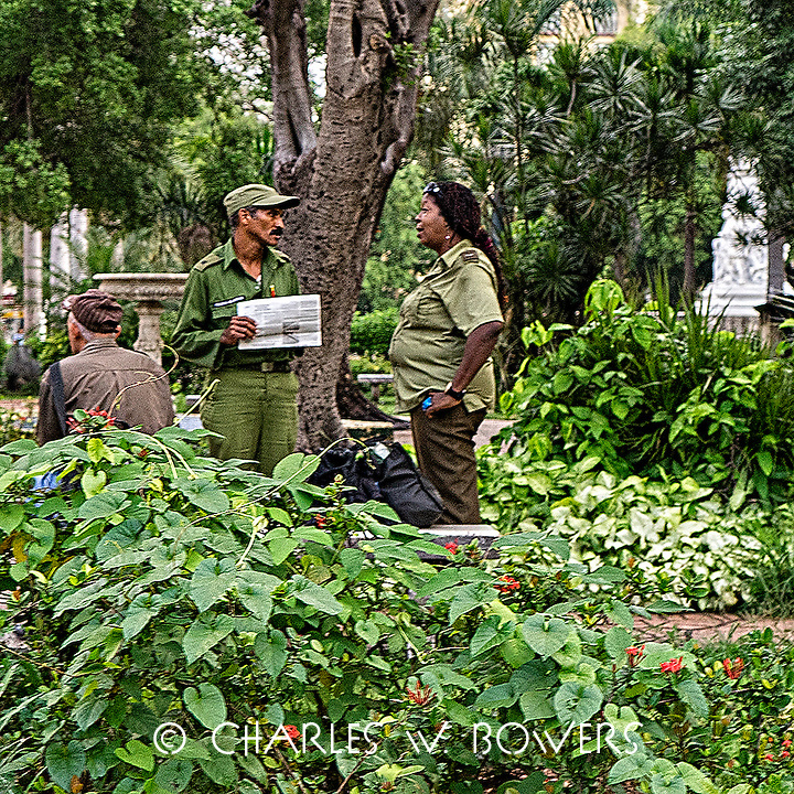 Faces Of Cuba - Morning meeting to plan the day.<br />