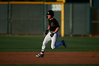 AZL D-backs Corbin Carroll (2) hustles towards second base for a double in the fourth inning during an Arizona League game against the AZL Mariners on July 3, 2019 at Salt River Fields at Talking Stick in Scottsdale, Arizona. The AZL D-backs defeated the AZL Mariners 3-1. (Zachary Lucy/Four Seam Images)