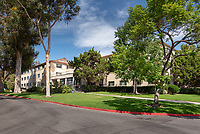 Newcomb Hall on the campus of Occidental College, Sept. 25, 2019.<br /> (Photo by Marc Campos, Occidental College Photographer)