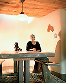 USA, New Mexico, artist Rena Swentzell in her home