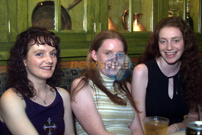 Caroline Cassidy,Sharon Murray and Samantha Murray, Collon , pictured enjoying a night in the Dunleer Inn..pic: Newsfile