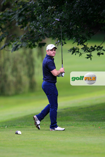 Richard Mccrudden (Portrush) on the 15th tee during the Ulster Final of the AIG Senior Cup at Belvoir Park Golf Club, Belfast, North Ireland. 20/08/2017<br /> Picture: Golffile   Thos Caffrey<br /> <br /> All photo usage must carry mandatory copyright credit     (&copy; Golffile   Thos Caffrey)