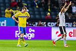 Solna 2015-09-08 Fotboll EM-kval , Sverige - &Ouml;sterrike :  <br /> Sveriges Kim K&auml;llstr&ouml;m deppar efter &Ouml;sterrikes 0-4 m&aring;l under matchen mellan Sverige och &Ouml;sterrike <br /> (Photo: Kenta J&ouml;nsson) Keywords:  Sweden Sverige Solna Stockholm Friends Arena EM Kval EM-kval UEFA Euro European 2016 Qualifying Group Grupp G &Ouml;sterrike Austria depp besviken besvikelse sorg ledsen deppig nedst&auml;md uppgiven sad disappointment disappointed dejected