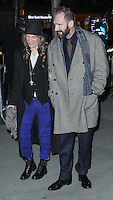 "NEW YORK CITY, NY, USA - FEBRUARY 26: Patti Smith, Ralph Fiennes at the New York Premiere of Fox Searchlight Pictures' ""The Grand Budapest Hotel"" held at Alice Tully Hall on February 26, 2014 in New York City, New York, United States. (Photo by Jeffery Duran/Celebrity Monitor)"