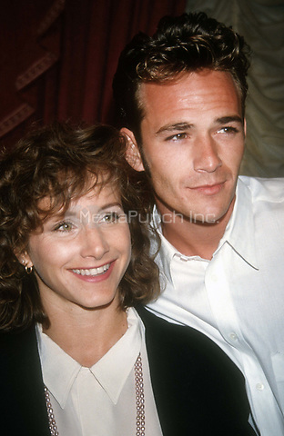 Gabrielle Carteris and Luke Perry 1992<br />