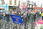 War veterans from the American Legion marching in the Killarney St Patricks day parade on Saturday