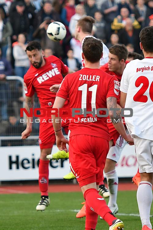 23.03.2017, BELKAWarena, Bergisch Gladbach , GER, FSP, Testspiel, SV Bergisch Gladbach 09 (MRL) vs. 1. FC K&ouml;ln ( 1.FBL) <br /> <br /> im Bild / picture shows: <br /> Kopfball durch Dominic Maroh (1. FC Koeln #5),<br /> <br /> <br /> <br /> Foto &copy; nordphoto / Meuter