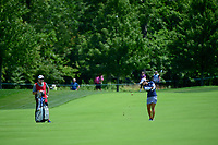 Marina Alex (USA) hits her approach shot on 1 during Saturday's third round of the 72nd U.S. Women's Open Championship, at Trump National Golf Club, Bedminster, New Jersey. 7/15/2017.<br /> Picture: Golffile | Ken Murray<br /> <br /> <br /> All photo usage must carry mandatory copyright credit (&copy; Golffile | Ken Murray)