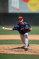 Binghamton Rumble Ponies relief pitcher Stephen Villines (5) during an Eastern League game against the Bowie Baysox on August 21, 2019 at Prince George's Stadium in Bowie, Maryland.  Bowie defeated Binghamton 7-6 in ten innings.  (Mike Janes/Four Seam Images)