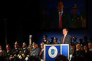 May 13, 2013  (Washington, DC)  Craig Floyd, President of the National Law Enforcement Officers Memorial, speaks at the 25th Annual Candlelight Vigil held at the National Law Enforcement Officers Memorial in the District of Columbia. (Photo by Don Baxter/Media Images International)