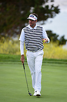 Bubba Watson (USA) after sinking his putt on 9 during round 1 of the 2019 US Open, Pebble Beach Golf Links, Monterrey, California, USA. 6/13/2019.<br /> Picture: Golffile | Ken Murray<br /> <br /> All photo usage must carry mandatory copyright credit (© Golffile | Ken Murray)