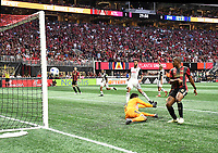 Atlanta, Georgia - Saturday, June 2, 2018: Atlanta United defeated a nine-man Philadelphia Union side, 3-1, in front of a crowd of 45,140 at Mercedes-Benz Stadium.