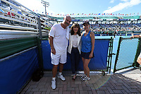 DELRAY BEACH, FL - NOVEMBER 05: Dr. Phil McGraw, Robin McGraw, Chris Evert participates in the 28th Annual Chris Evert/Raymond James Pro-Celebrity Tennis Classic at Delray Beach Tennis Center on November 5, 2017 in Delray Beach, Florida<br /> CAP/MPI/HOO<br /> &copy;HOO/MPI/Capital Pictures