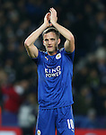 Leicester's Andy King celebrates at the final whistle during the Champions League group B match at the King Power Stadium, Leicester. Picture date November 22nd, 2016 Pic David Klein/Sportimage