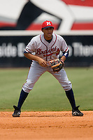 Mississippi shortstop Diory Hernandez (2) on defense versus Chattanooga at AT&T Field in Chattanooga, TN, Wednesday, July 25, 2007.