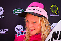 SNAPPER ROCKS, Queensland/Australia (Monday, 27 February, 2012) Laura Enever (AUS). – The Roxy Gold Coast presented by Land Rover, the opening stop on the 2012 Women's ASP World Championship Tour, ran for the third consecutive day at Snapper Rocks today, and the world's best surfers collectively lifted the high-performance levels today in two-to-three foot (1 metre) waves at Snapper Rocks..Laura Enever (AUS), 20, 2012 ASP Dream Tour sophomore, posted a big win in her non-elimination Roxy Pro Round 3 clash against Paige Hareb (NZL), 21, and reigning ASP Women's World Champion Carissa Moore (HAW), 19. With today's victory, Enever will now advance directly into the Quarterfinals while Hareb and Moore have to battle it out in Round 4..  .Stephanie Gilmore (AUS), 24, the 4-times ASP Women's World Champion also advanced to the Quarterfinals of the Roxy Pro today after posting two solid score in the 8-point-range (out of a possible 10). It's clear Gilmore is familiar with the Snapper lineup as she caught the best waves and timed her carves and turns perfectly.. Photo: joliphotos.com