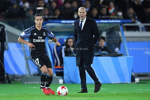 Zinedine Zidane (Real), <br /> DECEMBER 15, 2016 - Football / Soccer : <br /> FIFA Club World Cup Japan 2016 Semi Final match between <br /> Club America 0-2 Real Madrid <br /> at Yokohama International Stadium, Kanagawa, Japan. <br /> (Photo by AFLO SPORT)