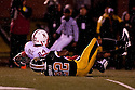 08 October 2009:  Nebraska wide receiver Niles Paul scores Nebraska's first touch down in the fourth quarter on a 56 yard pass play against Missouri at at Memorial Stadium, Columbia, Missouri. Nebraska defeated Missouri 27 to 12.