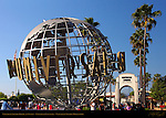 Universal Studios Globe at Sunset, Universal Citywalk, Universal Studios Hollywood, Los Angeles, California