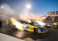 Sep 27, 2019; Madison, IL, USA; NHRA funny car driver Ron Capps during qualifying for the Midwest Nationals at World Wide Technology Raceway. Mandatory Credit: Mark J. Rebilas-USA TODAY Sports