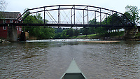 NWA Democrat-Gazette/FLIP PUTTHOFF <br />Beaver Lake is backed up to the War Eagle Mill dam, seen here on May 12 2017,  which creates a unique canoeing and kayaking opportunity on the War Eagle River. The current slows immediately below the mill dam and for easy paddling upstream or down.
