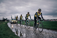 Dylan Groenewegen (NED/LottoNL-Jumbo)<br /> <br /> parcours recon of the 116th Paris-Roubaix 2018, 3 days prior to the race