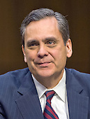 Jonathan Turley, Professor, J.B. And Maurice C. Shapiro Chair Of Public Interest Law, George Washington University Law School, Washington, DC testifies during the United States Senate Committee on the Judiciary hearing on the confirmation of Loretta Lynch, United States Attorney For The Eastern District Of New York, U.S. Department of Justice, Brooklyn, NY as U.S. Attorney General on Capitol Hill in Washington, D.C. on Thursday, January 29, 2015.  <br /> Credit: Ron Sachs / CNP