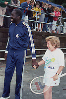 Earl Monroe &amp; Dr. Ruth Westheimer 1987 by <br />