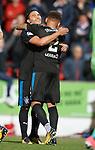 Carlos Peña with goal provider James Tavernier