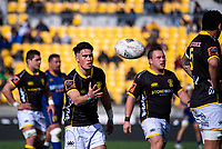 Sheridan Rangihuna prepares to feed a scrum during the Mitre 10 Cup rugby match between Wellington Lions and Otago at Westpac Stadium in Wellington, New Zealand on Sunday, 19 August 2018. Photo: Dave Lintott / lintottphoto.co.nz