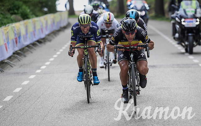Philippe Gilbert (BEL/Quick Step floors) dropping low/speeding up<br /> <br /> 52nd Amstel Gold Race (1.UWT)<br /> 1 Day Race: Maastricht &rsaquo; Berg en Terblijt (264km)