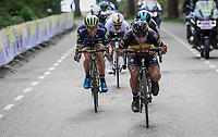 Philippe Gilbert (BEL/Quick Step floors) dropping low/speeding up<br /> <br /> 52nd Amstel Gold Race (1.UWT)<br /> 1 Day Race: Maastricht › Berg en Terblijt (264km)