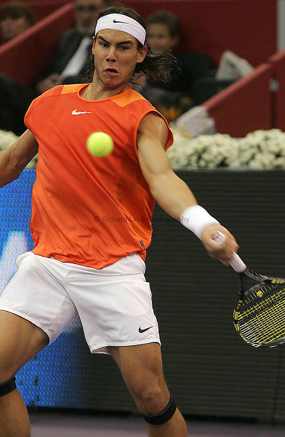 Photo: Sportsbeat.Madrid, ATP Masters Series 2005..23/10/2005..Rafael Nadal in action in the Masters final.