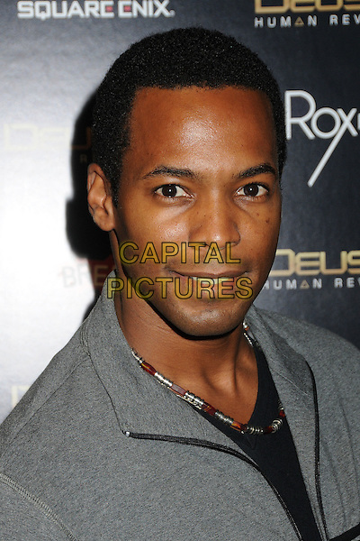 "Anthony Montgomery.""Deus Ex: Human Revolution"" Launch Party held at The Roxbury, Hollywood, California, USA..August 23rd, 2011.headshot portrait grey gray.CAP/ADM/BP.©Byron Purvis/AdMedia/Capital Pictures."