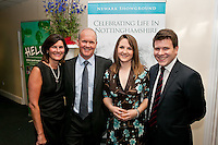 Celebrating life in Nottinghamshire are Catherine and Alisdair Morrison, Charlotte Smith and James Jeffrey