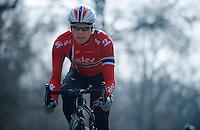 Paris-Roubaix 2013 RECON at Bois de Wallers-Arenberg..Edvald Boasson Hagen (NOR)