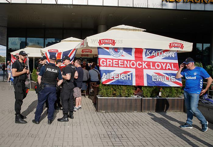 22.08.2019 Rangers fans in Warsaw